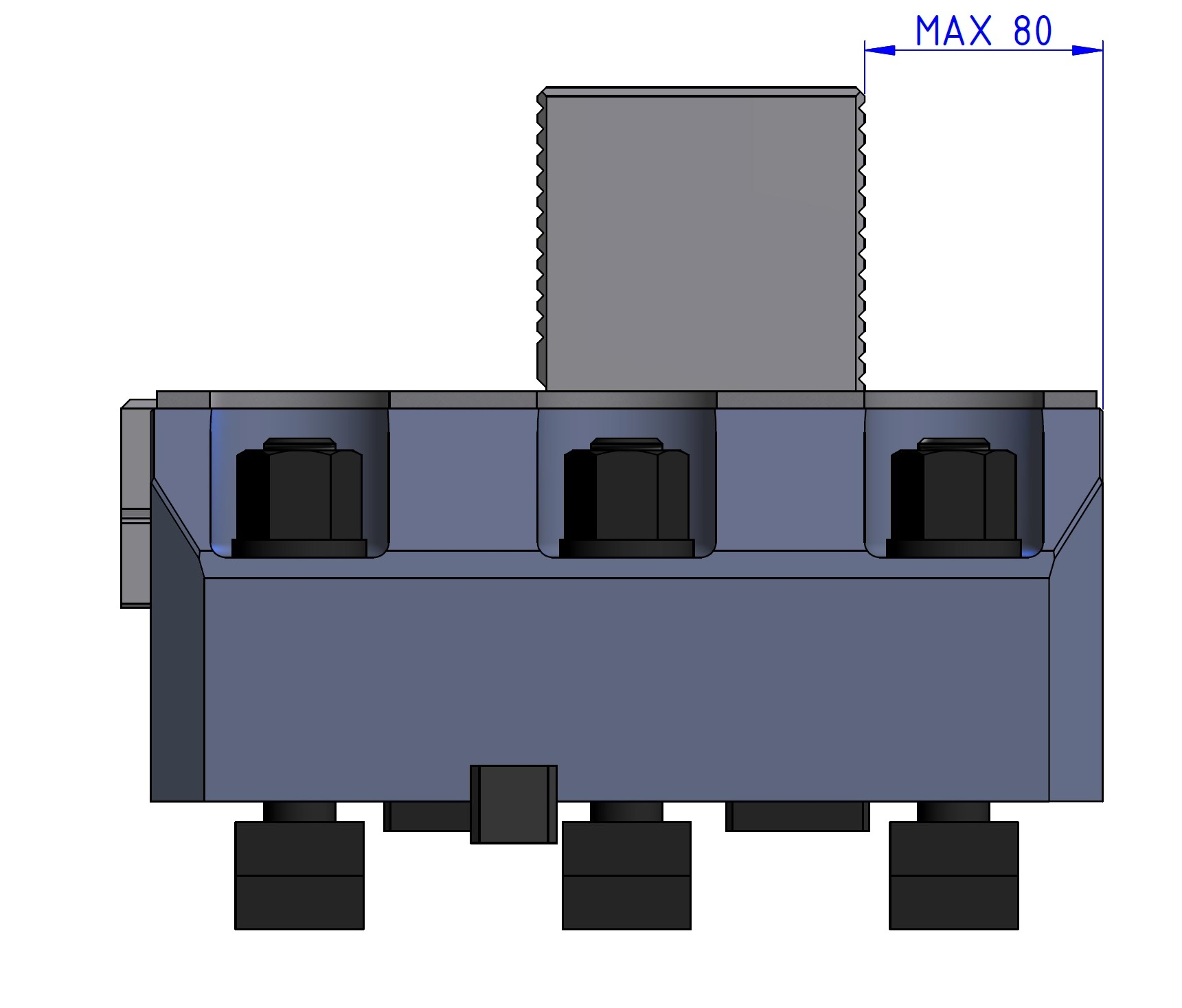 RSVS jaw boxes for horizontal and vertical machine
